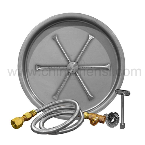 Round stainless steel fire pit outdoor